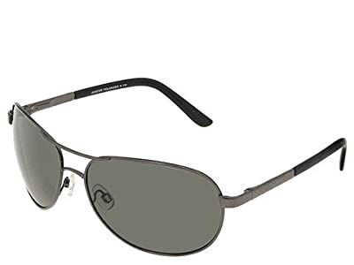 SunCloud Polarized Optics Aviator Polarized (Gunmetal/Grey Polarized Lens) Sport Sunglasses