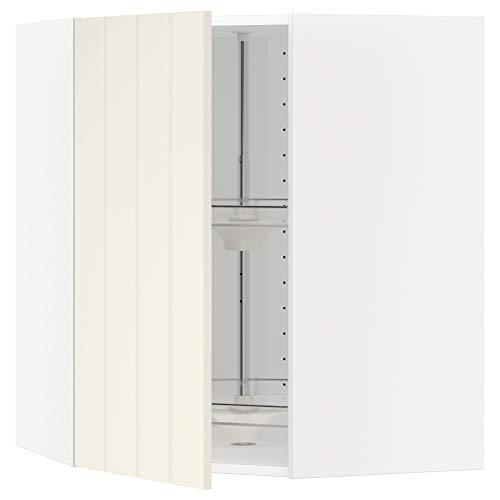 METOD armario esquinero de pared con carrusel 67,5x67,5x80 cm blanco/Hittarp blanco roto
