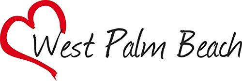 Vinilo Adhesivo para el Coche o la Moto, Sticker West Palm Beach Ciudad de Estados Unidos 5x16 cm Pegatina sin Fondo