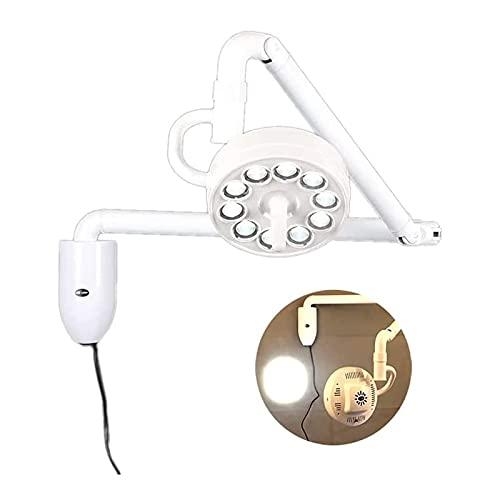 ANYURAN Lámpara sin Sombra de cirugía médica, Lámpara sin Sombras de luz de Examen médico quirúrgico LED montada en la Pared de 30 W Lámpara sin Sombras quirúrgica de rotación de 360 ° Lámpara