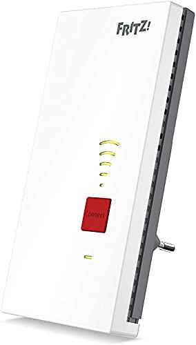 AVn Fritz!WLAN Mesh Repeater 2400 (Dual-WLAN AC + N bis zu 1.733 MBit/s (5GHz) + 600 MBit/s(2,4 GHz), 1x Gigabit-LAN, deutschsprachige Version)