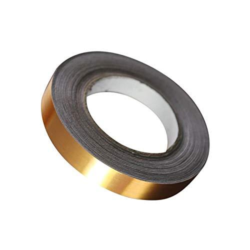 HarmonyHappy Silber/Golden Fliesenfolie Fliesensticker Dekosticker für Fliesen Spalt, Selbstklebend - Goldfolie, 5mm x 50m