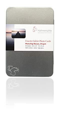 Hahnemühle 10640773 Digital FineArt Photo Rag Baryta Photo Cards, 10 x 15, 100 x 150 mm