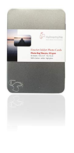 Hahnemühle 10640773Digital Fine Art Photo Rag Baryta Photo Cards, 10x 15, 100x 150mm