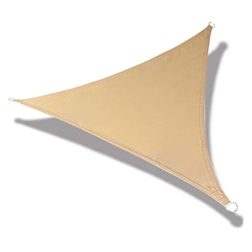 KNDJSPR 5m x 5m Parasol Triángulo Toldo Toldo Refugio Tela Pantalla Tela Bloque UV Permeable Tejido Duradero Exterior, Exterior Patio Cochera