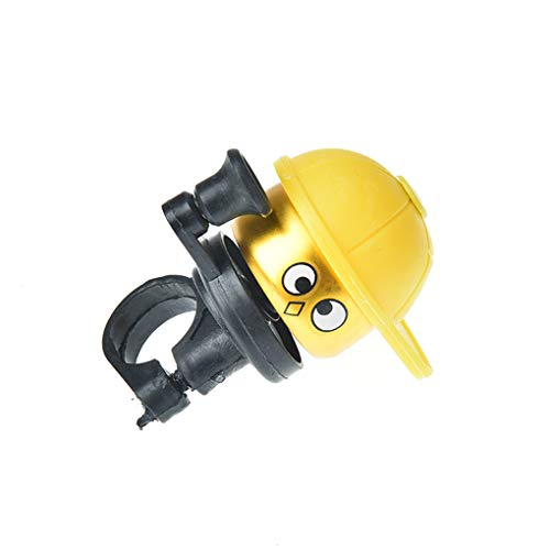 DFLYHLH Cute Cartoo Bike Bicycle Cycling Hat Loud Ring Alarm Metal Handlebar Bell Cap Horn Bicycle Yellow