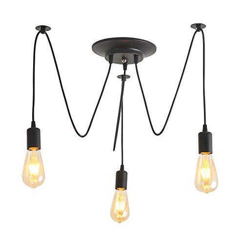 E27 Creative Edison Pendelleuchte Kronleuchter Antique DIY Kronleuchter,1,8 m Kabel,3 Köpfe Lampen Vintage Industrial Deckenleuchte Leuchte Retro Industrial Dining Hall Schlafzimmer