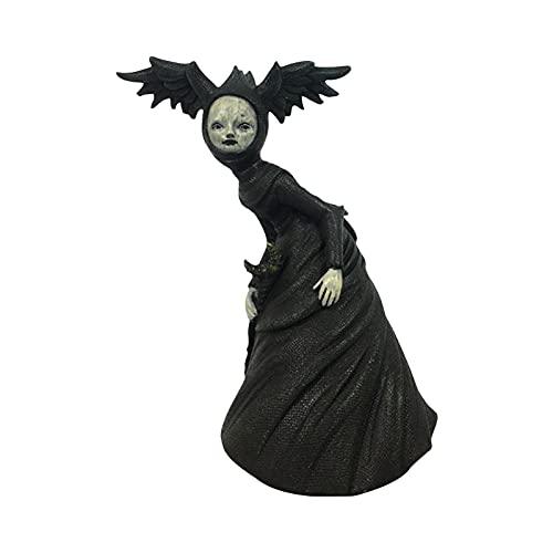 Bagalqio Adornos de estatuilla de Bruja, Estatua de Resina de Bruja Espeluznante, Estatua de Recuerdos de Fiesta de Halloween, Escultura de decoración de fantasía de Bosque de muñeca Best Service