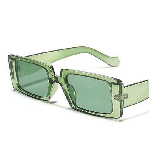 QWKLNRA Gafas De Sol para Hombre Montura Verde Lente Verde Gafas De Sol Deportivas Polarizadas Moda Cuadrada Tendencia De Mujer Color Transparente Gafas De Sol Personalizadas Estilo De Gafas De Call