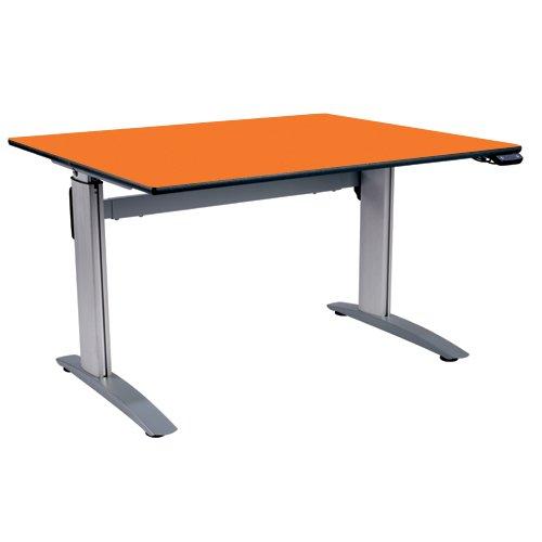 metalliform ha800/a-127-md-orange Flamme höhenverstellbar Tisch, MDF Edge, Rahmen silberfarben, orange flame