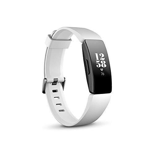 Fitbit Inspire HR Gesundheits- & Fitness Tracker mit automatischer Trainings Erkennung, 5 Tage Akkulaufzeit, Schlaf- & Schwimm-Tracking, Weiß