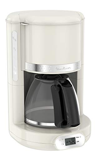 Moulinex FG381 FCM Soleil, Macchina da Caffè Americano, Capacità di 1,25 L fino a 15 Tazze di Caffè, Supporto Filtro Girevole, Sistema Anti Gocciolamento, Spegnimento Automatico, Mantenimento in Caldo