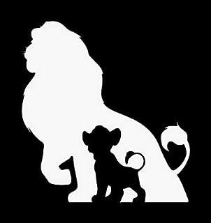 Creative Concepts Ideas Lion King Simba Shadow CCI Decal Vinyl Sticker|Cars Trucks Vans Walls Laptop|White|5.5 x 5.1 in|CC...