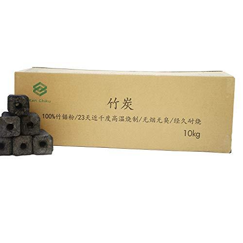 Ken Chiku Bamboo Charcoal 10Kg | Briquettes Perfect For BBQ | Long Burn...