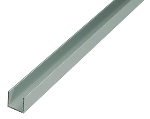 GAH-Alberts 473877 U-Profil | Aluminium, silberfarbig eloxiert | 1000 x 20 x 20 mm