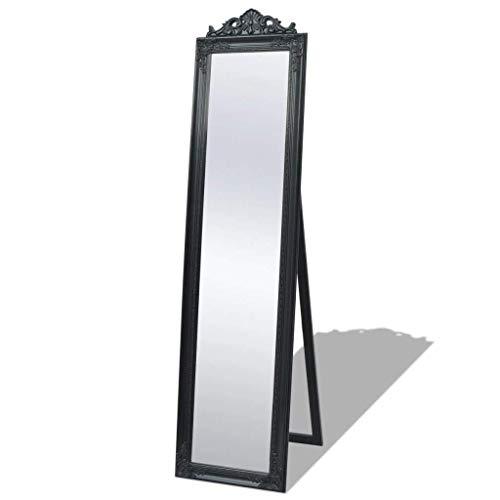 vidaXL Stehspiegel für Schlafzimmer Badezimmer im Barockstil 160 x 40 cm Schwarz
