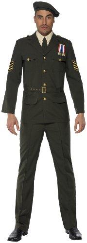 KULTFAKTOR GmbH Offizier Kostüm Uniform grün M