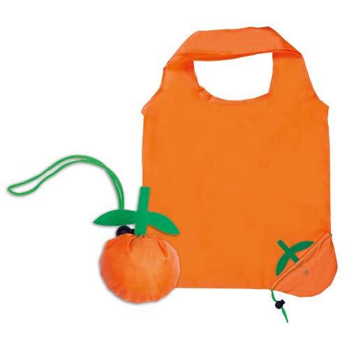 DISOK - Lote de 20 Bolsas Plegable Naranja. Bolsas de la Compra...