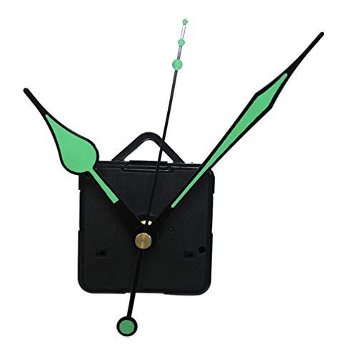 DOITOOL 1 piezas kit de movimiento reloj de cuarzo silencioso mecanismo de reloj diy maquinaria reloj pared con agujas de pared con 3 agujas de fluorescencia sin batería (Color de puntero aleatorio)