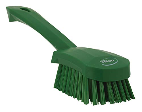 Vikan 41922 Heavy Duty Sweep Hand Brush, Polypropylene, Polyester Stiff Bristle, 10', Green