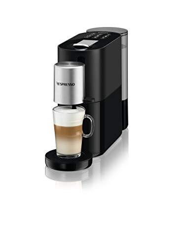 Krups Nespresso Atelier - Cafetera con cápsulas, preparación directamente en taza, espumado en frío, batidor desmontable, leche vegetal, chocolate, fabricada en Francia YY4355FD
