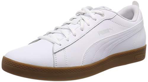 Puma Damen Smash WNS v2 L Sneaker, Weiß White-Gray Violet-Gum, 40 EU