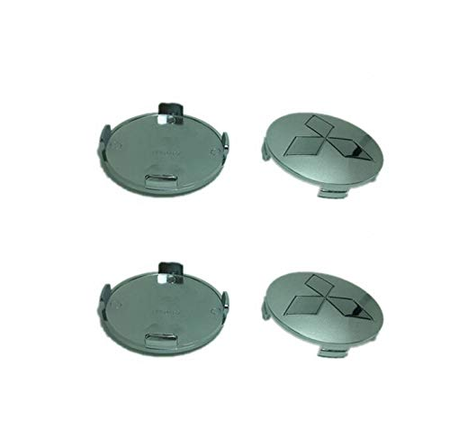 Ruedas centro tapas Chrome plata 81mm 4pcs set para Mitsubishi Montero Pajero