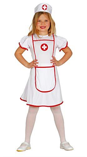 Guirca 85947 Krankenschwester-Kostüm für Kinder, Weiß/Rot, 7-9 Jahre