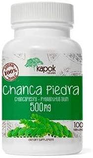 Kapok Naturals Chanca Piedra Kidney Stone Crusher. 500mg Stonebreaker Tablets. Kidney Stone Dissolver & Gallstone Dissolver. Chanca Piedra Pills for Kidney Cleanse or as a Kidney Stone Breaker