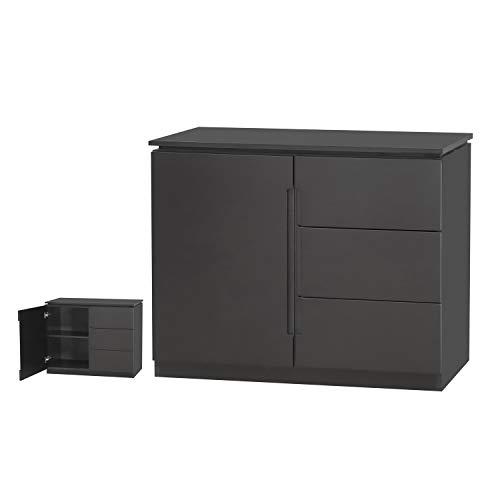 Orb Wohnzimmermöbel – Sideboards, Bücherregal, TV-Schränke, Lampentische – Schwarz oder Weiß Small Sideboard Schwarz