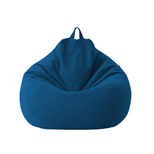 Fundas para saco de saco, silla de juegos para niños y adultos, almacenamiento silla para sofá pigro, funda para silla de saco impermeable, silla para interiores y exteriores (azul, 85 x 105 cm)