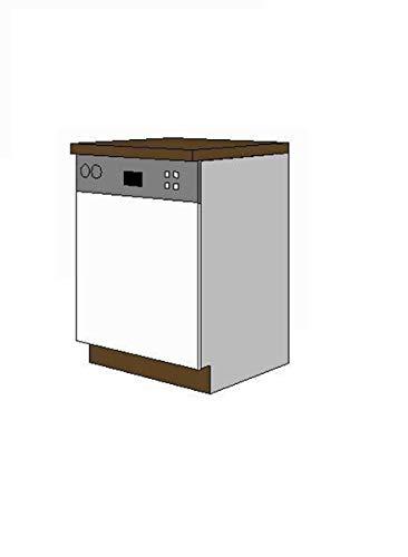 Verblendungsset Geschirrspüler 60 cm integrierbar, zur Küche Trend HG Weiss