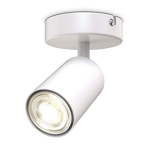 B.K.Licht I 1-flammige Spotlampe I schwenkbar I drehbar I GU10 I Weiß I ohne Leuchtmittel