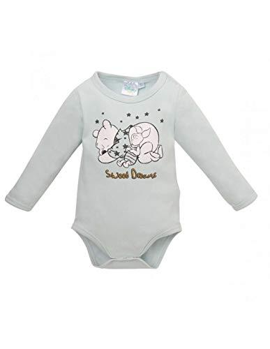 Winnie l'ourson Body Manches Longues bébé garçon Bleu de 3 à 24mois - Bleu, 3 Mois