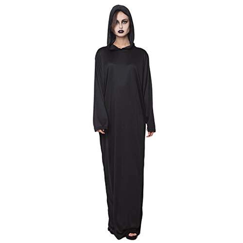 Túnica Negra con Capucha Adulto - Halloween (L)
