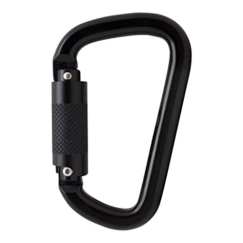 Fusion Climb Auto Lock Modified D Shape Aluminum Carabiner, UIAA Certified, Heavy Duty for Camping, Hiking, Outdoor and Gym