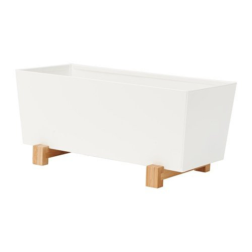 Ikea BITTERGURKA Übertopf in weiß; (32x15cm)