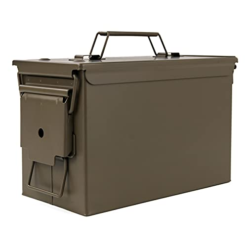 GUGULUZA Metal Ammo Can Case .50 Cal Military Army Solid...