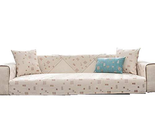 Fundas de sofá de Chenilla Modernas con Motivos geométricos Funda de Cuero reclinable en Forma de L,Funda de Respaldo de reposabrazos Funda de sofá Funda de sofá de Dos plazas ,Beige,110 * 240 cm
