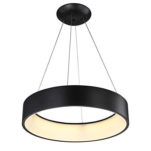 VS Venta-stock Lampadario LED Color Nero Circolare Illuminazione 4000K 60cm di Diametro [Classe di efficienza energetica A +++]