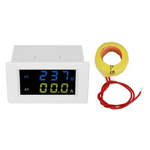 Misuratore Voltmetro, ABS LCD Digitale Misuratore, para monitoreo de baterías de(Double display white shell)