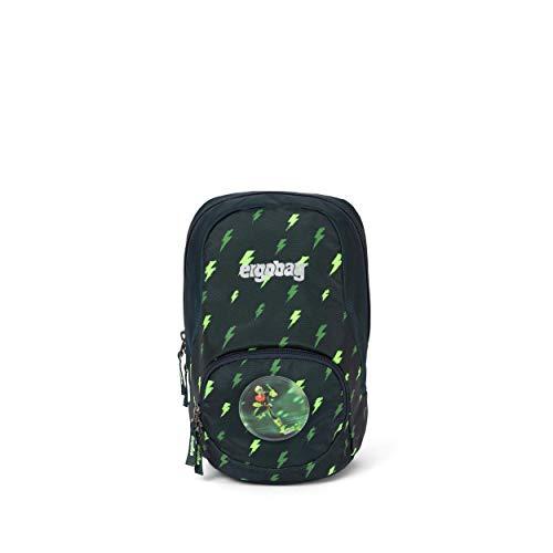 ergobag Ease Small Kids Backpack Unisex Kinder Rucksack, Unisex Kinder, Tagesrucksack, ERG-MIS-001-9Z8, Schwarz, Grün, Blizzard, L