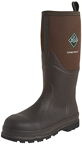Hot Sale MuckBoots Chore Cool Steel-Toed Work Boot,Brown,9 M US Mens/10 M US Womens