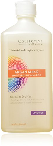 Bien-être Collectif – Argan Brillance Shampooing hydratant pour cheveux normaux à secs Lavande – 14.5 Fl. oz