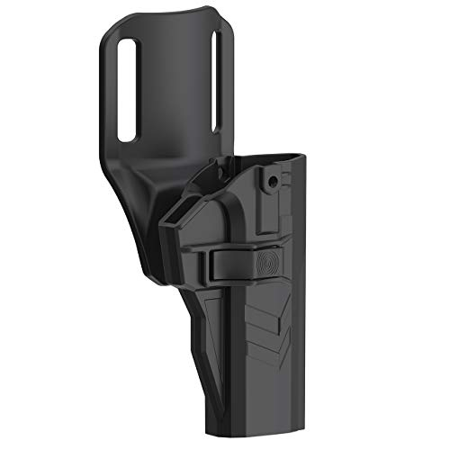 Drop Offset Holster Fits CZ 75 SP-01 Shadow, Tactical Outside Waistband Polymer Mid-Ride Belt Holster with 360°Adustable Cant, OWB Pistol Holster for Open Carry, RH, Black