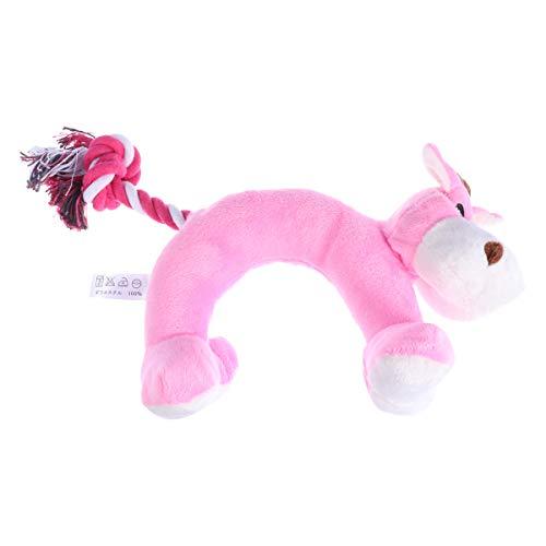 UKCOCO Disfraz de Mascota de Halloween Juguetes para Mascotas de Halloween Forma de Animal Mancuerna Juguete Perro Sonido Masticar Juguetes chirriantes Suministros para Mascotas (Rosa)