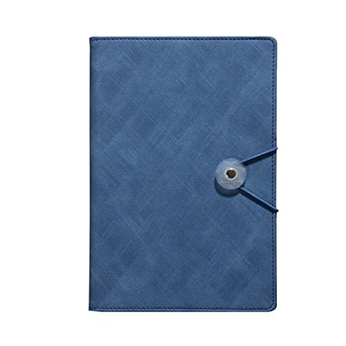TOMOP A5 cubierta de cuero cuaderno de tapa dura cuaderno de negocios 100 hojas reunión cuaderno pu cuero cuaderno para oficina escuela reunión