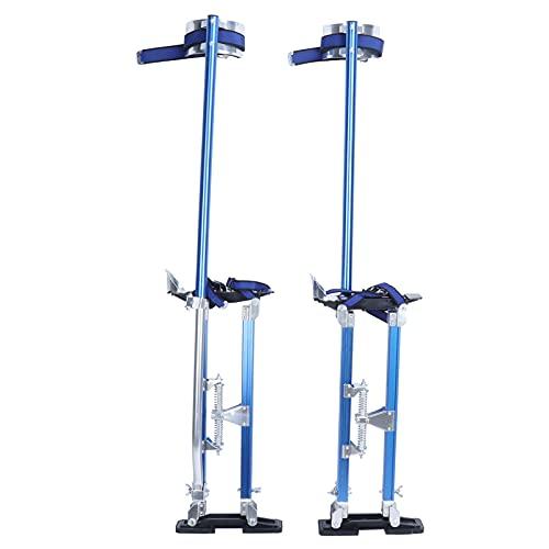 Zancos de aleación de aluminio para zancos de yeso Zancos de pintor de paneles de yeso Zancos de trabajo 130 x 8,5 cm Azul