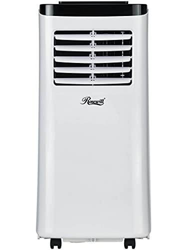 Rosewill Portable Air Conditioner 7000 BTU, AC Fan & Dehumidifier 3-in-1 Cool/Fan/Dehumidify w/Remote Control, Quiet Energy Efficient Self Evaporation AC Unit for Single Room Use, RHPA-18001