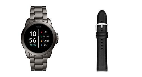 Fossil Connected Smartwatch Gen 5E para Hombre con tecnología Wear OS de Google, frecuencia cardíaca, GPS, NFC y notificaciones smartwatch + Correa para Reloj S221296